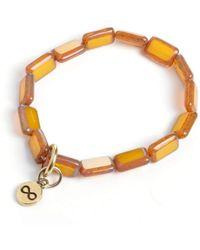 Eva Michele - Golden Infinity Bracelet - Lyst