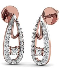 Diamoire Jewels Nature Inspired Earrings Handmade with Premium Diamonds in 10kt Rose Gold