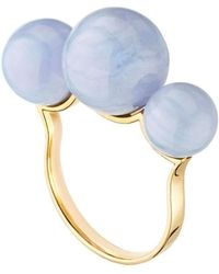 Mimata - Empress Ring - Pink Gold Ring With Chalcedony - Lyst