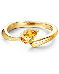 Fei Liu - Polished 18kt Yellow Gold Plated Shooting Star Citrine Open-end Ring - Lyst