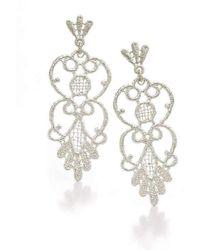 Brigitte Adolph Jewellery Design - Carmen Silver Lace Earrings - Lyst