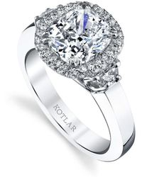 Harry Kotlar Cushion Cut Classico Ring