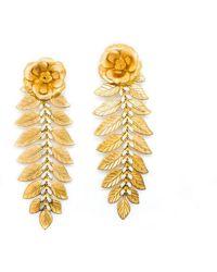Pats Jewelry - Rose Brass Earrings - Lyst