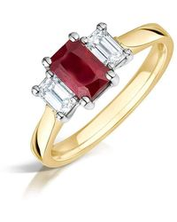 Clearwater Diamonds - Fine Ruby And Diamond Trilogy Ring - Lyst