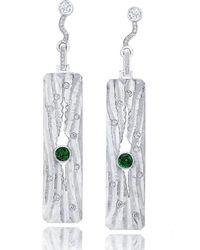 LJD Designs - Silver Rippled Sand Earrings - Lyst
