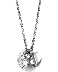 Anchor & Crew - Lerwick Pulley Silver Necklace Pendant - Lyst
