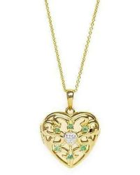 Lily Blanche | Gold Love Locket - Emerald | Lyst
