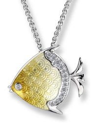 Nicole Barr - Silver Angel Yellow Fish Necklace - Lyst