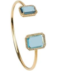 Emily Mortimer Jewellery - Electra Sky Blue And London Blue Topaz Bangle - Lyst