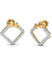 Diamoire Jewels - 18kt Yellow Gold 0.22ct Pave Diamond Infinity Earrings - Lyst