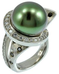 Alex Gulko Custom Jewelry - White Gold Tahitian Pearl Ring - Lyst