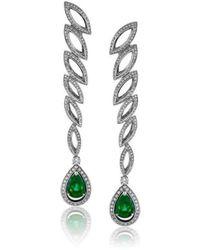 Niquesa Fine Jewellery - Petali D'amore Emerald Earrings - Lyst