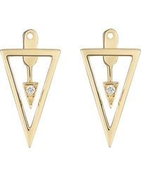 Mishanto London - Yellow Gold & Diamond Can-do Devotion Earrings - Lyst