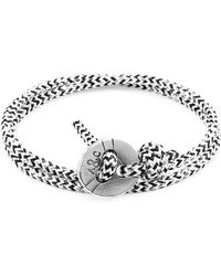 Anchor & Crew White Noir Dundee Silver and Rope Bracelet s2dl6K1
