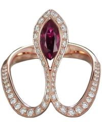 Baenteli - Rose Gold & Ruby Royale Ring | - Lyst