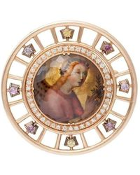 Spencer Fine Jewelry - Angel Gabriel By Sano Di Pietro Spencer Portrait Brooch A - Lyst