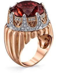 "Dallas Prince Designs - Royal Crown Ring With ""merlot Tourmaline"" - Lyst"