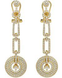 Lustre of London - Yellow Art Deco Drop Earrings - Lyst