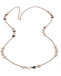 Chavin Couture - Rose Gold Large Necklace - Lyst