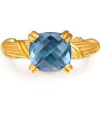 Peter Thomas Roth Fine Jewelry - Fantasies 18kt Gold London Blue Topaz Cocktail Ring - Lyst