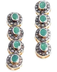 M's Gems by Mamta Valrani - Antiquity Earrings With Diamonds And Emeralds - Lyst