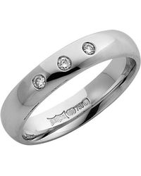 Lyst Star wedding rings 9kt White Gold Diamond Wedding Ring in Black
