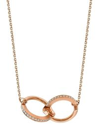 Borgioni - Handcuff Chain Necklace In Rose Gold - Lyst