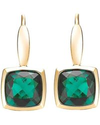 Isaac Westman - Yellow Gold Created Emerald Earrings - Lyst