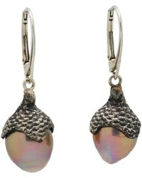Lainey Papageorge Designs - Water Oak Acorn Cap Earrings - Lyst