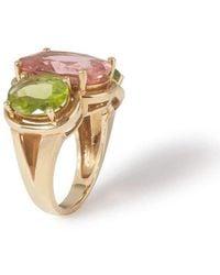 Mara Hotung - Tourmaline & Peridot Ring 18kt Yellow Gold - Lyst