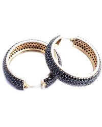 M's Gems by Mamta Valrani - Dark Swirl Hoop Earrings With Onyx - Lyst