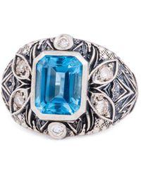 Katherine LeGrand Custom Goldsmith - Sterling Silver & Topaz A'donna Ring | Katherine Legrand - Lyst