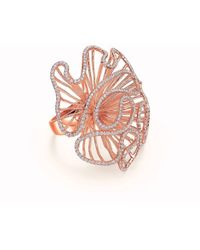 Fei Liu - Cascade Large Ring In 18kt Rose Gold Plate - Lyst