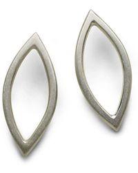 Naomi Tracz Jewellery - Medium Marquise Earrings Silver - Lyst