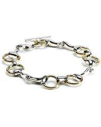 Hiho Silver - Sterling Silver & Brass Two Tone Snaffle Bracelet - Lyst