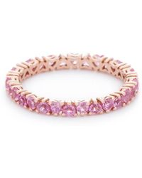 VOA Fine Jewellery - Signature Heart Pink Eternity Ring - Lyst