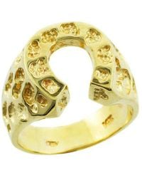 QP Jewellers | Horseshoe Ring In 9kt Gold | Lyst