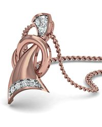 Diamoire Jewels - Pave Set 7 Diamond Pendant Inspired By Nature In 18kt Rose Gold - Lyst