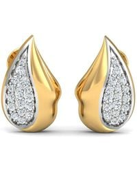 Diamoire Jewels - 18kt Yellow Gold 0.19ct Pave Diamond Infinity Earrings - Lyst