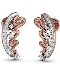 Diamoire Jewels Rivulet Diamond Earrings in 18kt Rose Gold w5TKL