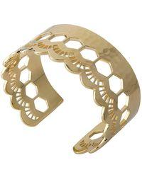 Murkani Jewellery - Lace Gold Edge Cuff - Lyst