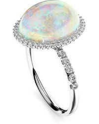 MARCELLO RICCIO - 18kt White Gold, Diamond & Crystal Opal Ring - Lyst