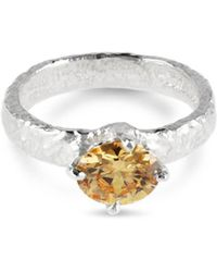 Paul Magen - Sterling Silver Champagne Teneo Ring - Lyst