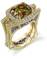 "Dallas Prince Designs - ""eugenio"" Ring With Natural Colour-change Csarite And Diamonds - Lyst"