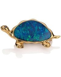 Mara Hotung - Opal Turtle Brooch 18kt Yellow Gold Large - Lyst