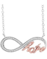 Cosanuova - Infinity Hope Necklace In White Gold - Lyst