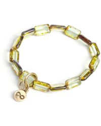 Eva Michele - Peridot Infinity Bracelet - Lyst