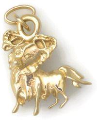 Donna Pizarro Designs - 14kt Yellow Gold Papillion Charm - Lyst