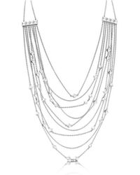 ROX - Diamonds and Thrills - Identity Sterling Silver Strand Stud Necklace - Lyst