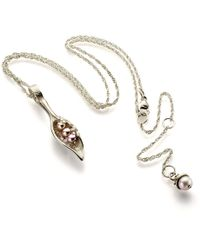 John S Roberts Artist-Jeweller - Eroded Pod Necklace With Freshwater Pearls - Lyst